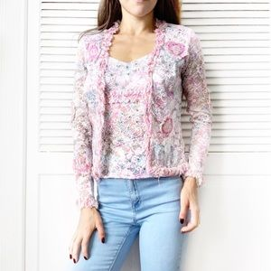 Alberto Makali Lace Jacket & Top Two-Piece NWT